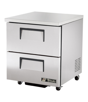 Undercounter Refrigerator, 33-38° F, stainless steel top & sides, white aluminum