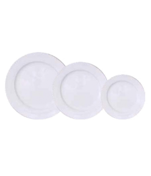 """Plate, 8"""", round, flat, scratch resistant, oven & microwave safe, dishwasher pro"""