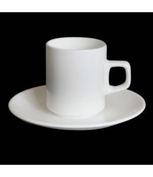 "Demitasse Can Cup, 2-3/4 oz., 2-7/8""W x 2-1/4""H, bone china, Tria (minimum = cas"