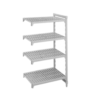 """Camshelving® Add-On Unit, 24""""W x 42""""L x 84""""H, (5) polypropylene shelves with Cam"""