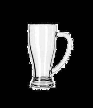"Cafe Mug, 14 oz., with handle, (H 6-3/4""; T 3-1/8""; B 2-5/8""; D 5"")"