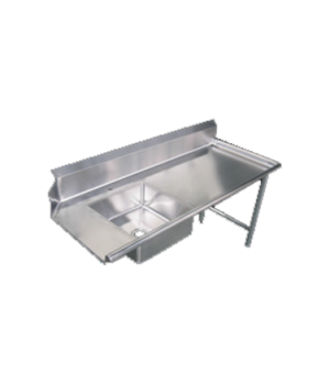 "(28487) Dishtable, soiled, 60""W, right side, with sink, stainless steel"