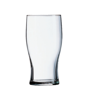 "Tulip Beer Glass, 14 oz., 5-1/4"" H, fully tempered, nucleated, (5-1/4"" H; 3-1/8"""