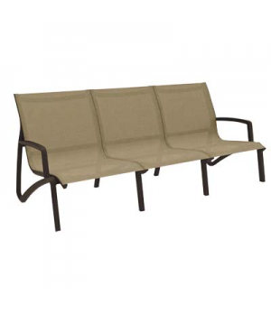 Sunset Sofa, stackable, without arms, designed for outdoor use, textilene sling,