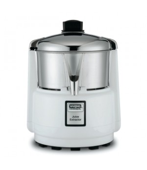 Juicer, electric, heavy duty, polycarbonate motor housing, stainless steel bowl