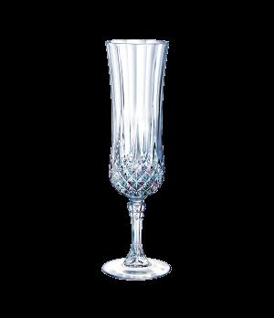 """Flute Glass, 4-1/2 oz., crystal, Cristal D'Arques, Longchamp, (H 8""""; T 2-1/4""""; M"""