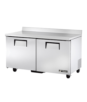 Work Top Freezer, two-section, -10° F, stainless steel top with rear splash, fro