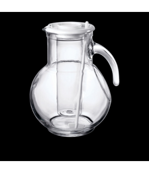 "Pitcher with Ice Chamber & Stir, 72 oz., 6-1/2"" x 8-1/2"", white, Bormioli, Kufra"