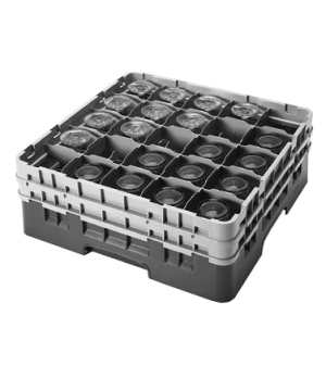 "Camrack® Glass Rack, with 2 extenders, full size, 25 compartments, 3-1/2"" max. d"