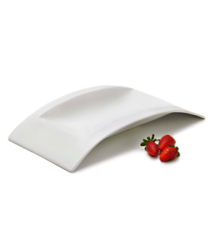 "Platter, 15"" x 7-3/4"" x 2-1/4"", ceramic displayware, bright white, Alare"