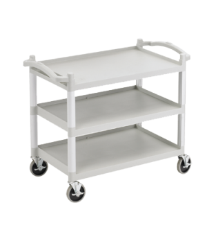 "Service Cart, open design, three shelves, shelf size approximately 20-1/2"" x 31-"