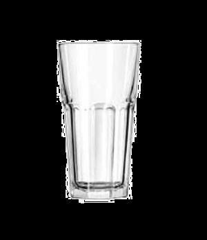 """Cooler Glass, 20 oz., DuraTuff®, GIBRALTAR®, (H 6-3/4""""; T 3-3/4""""; B 2-5/8""""; D 3-"""
