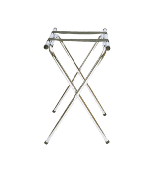 "Tray Stand, 19"" x 16"" x 31""H, folding, double bar with 2 straps, powder-coated f"