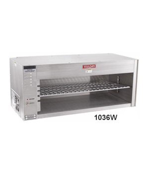 "Cheesemelter, Wall-Mounted, Electric, 3.6 KW, four rack positions, 36-1/2"" long,"