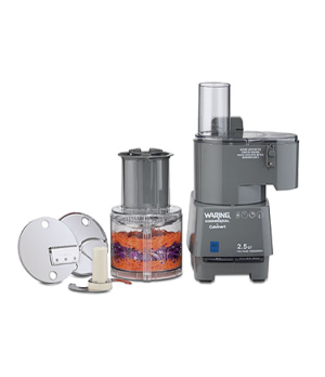Commercial Food Processor, 2.5 qt., vertical chute feed design, continuous feed,