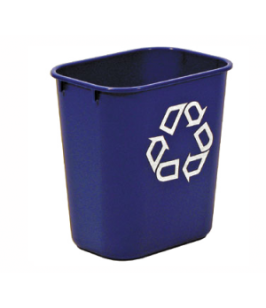 "Deskside Recycling Container, small, 13-5/8 qt., 11-3/8""W x 8-/14""D x 12-1/8""H,"