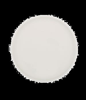 "Pizza/Buffet Plate, 12-1/2"" dia., round white, premium porcelain, Artesano"