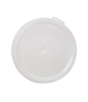 Cover, for storage container, 2 & 4 qt., translucent, polypropylene, NSF