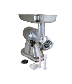 (MG-CN-0012-E) Meat Grinder, electric, #12 head, reverse switch, polished alumin