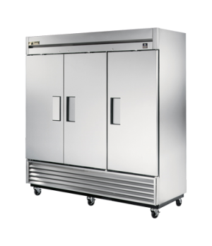 Freezer, Reach-in, three-section, -10°F, (3) stainless steel doors, stainless st