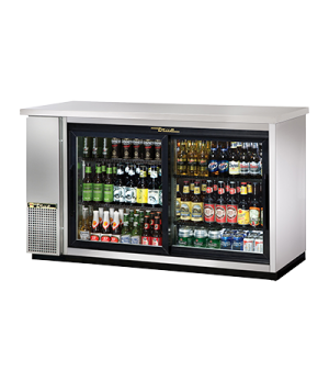 "Back Bar Cooler, two-section, 24"" deep, 35-7/8"" high, (72) 6-packs or (3) 1/2 ke"