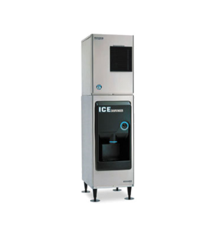 Ice Dispenser, approximately 130-lb built-in storage capacity, accommodates KM-3