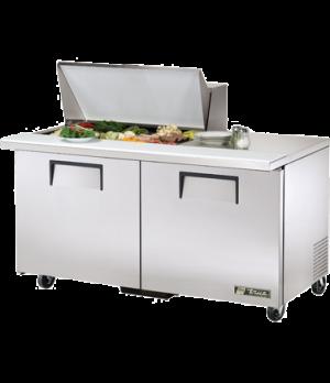 """Mega Top Sandwich/Salad Unit, (15) 1/6 size (4""""D) poly pans, stainless steel ins"""