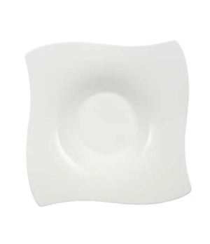 "Rim Soup Plate, 9-7/8"" x 9-7/8"", 10-1/4 oz., deep, premium bone porcelain, New W"