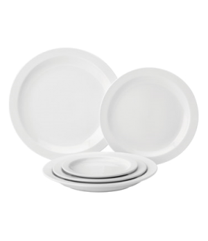 "Plate, 6-1/2"" dia. (16 cm), round, narrow rim, microwave & dishwasher safe, Pure"