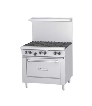 "G Starfire Pro Series Restaurant Range, gas, 36"", (6 33,000 BTU open burners, wi"