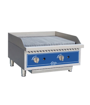 """Charbroiler, gas, radiant, countertop, 24"""" wide, heavy-duty reversible cast-iron"""