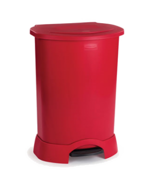 """Step-On Container, 30 gallon, 24-1/4"""" x 19-3/4""""W x 34-1/4""""H, hands free, heavy-d"""