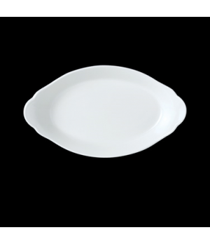 "Eared Dish, 27-1/2 oz., 12"" x 6-1/2"", oval, vitrified ceramic, Performance, Simp"