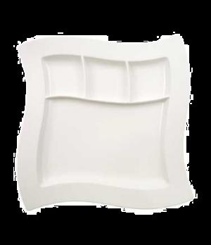 "Grill Plate, 10-5/8"" x 10-5/8"", premium porcelain, New Wave"