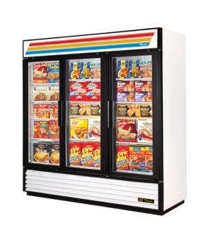 Freezer Merchandiser, three-section, -10° F, (12) shelves, laminated vinyl exter