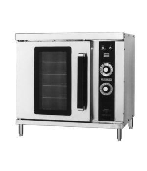 Half-Size Convection Oven, Propane Gas, (2) single decks, standard depth, solid