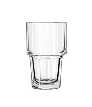 "Beverage Glass, 12 oz., stackable, DuraTuff®, GIBRALTAR®, (H 5""; T 3-1/8""; B 2-3"