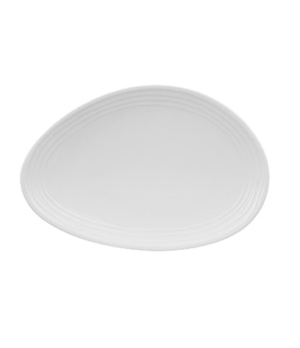 "Plate, 6"" x 4"", oval, flat, premium porcelain, Sedona"