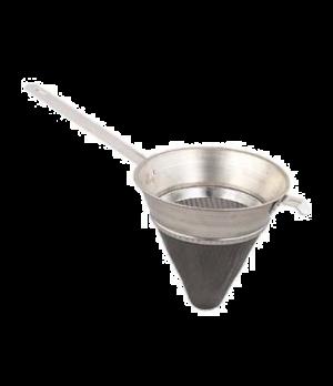 "Bouillon Strainer, 2-1/4 qt., 8"" bowl, pan hook, extra-fine mesh, tin-plated"