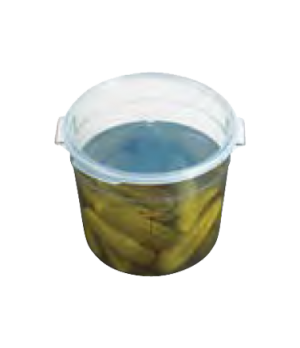 Seal Cover, for Camwear 6 & 8 qt. round storage container, translucent, polyprop