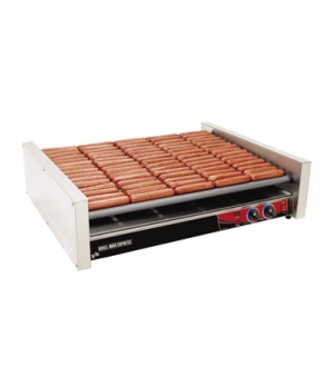 Grill-Max® Express™ Hot Dog Grill, roller-type, stadium seating, chrome-plated r