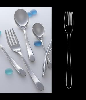 "Salad/Dessert Fork, 7-1/2"", 18/10 stainless steel, WNK, Harlan (USA stock item)"
