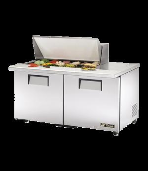 """ADA Compliant Mega Top Sandwich/Salad Unit, (18) 1/6 size (4""""D) poly pans, stain"""