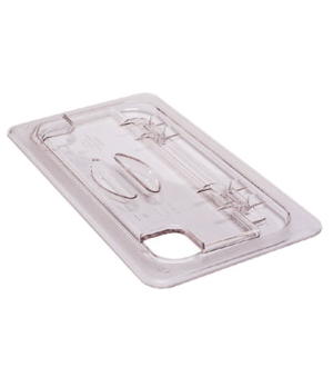 FlipLid® Food Pan Cover, 1/2 size, notched, hinged, polycarbonate, clear, NSF