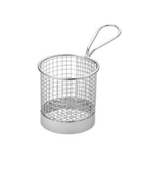 "Service Basket, 3.5"" (9cm), with handle, round, wire grid, Serveware"