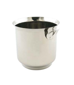 "Wine Bucket, 6"" dia. x 6-1/4""H, stainless steel"