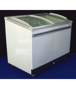 Angle Top Freezer, 18.5 cu ft. capacity, 444 litres, (7) enamelled hanging baske