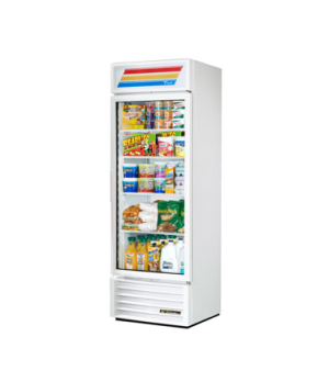 Refrigerated Merchandiser, one-section, (4) shelves, white exterior, trim, and i