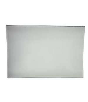 "Plate, 12-5/8"" x 8-1/4"", rectangular, glass, Cera"