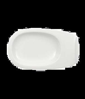 "Plate/Saucer, 7-1/8"" x 4-1/8"", 2 oz., (order OCR 1550), premium porcelain, Urban"